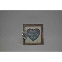 Foto ramka drewniana serce
