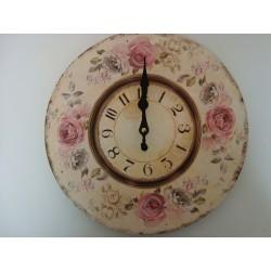 Zegar ścienny z motywem róży